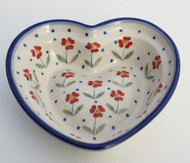Polish Pottery Small Heart Bowl- Simple Elegance
