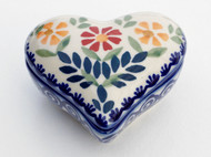 Polish Pottery Heart Box - Delight