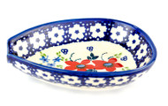 Polish Pottery Spoon Rest - Love in Bloom