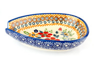 Polish Pottery Spoon Rest - Grandma's Garden