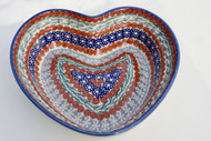 Polish Pottery Large Heart Bowl - Alma