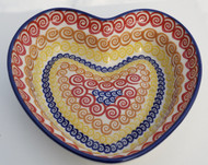 Polish Pottery Large Heart Bowl - Candy