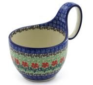 Polish Pottery Soup/Chilli Mug - Touch of Mint