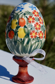 Polish Pottery Easter Egg  Ornament-- K