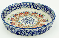 Polish Pottery Fluted Pie Dish- Friends