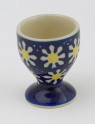 Polish Pottery Egg Cup - April Daisy