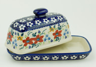 Polish Pottery Butter Dish - Love in Bloom
