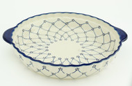 Polish Pottery Pie Plate- Classic Beauty