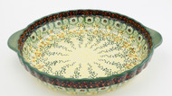 Polish Pottery Pie Plate- Sunlit Meadow