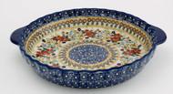 Polish Pottery Pie Plate- Grandma's Garden