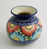 """Polish Pottery Stoneware 5"""" Vase - Straw Flower"""