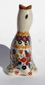 Polish Pottery Pie Bird -Grandma's Garden