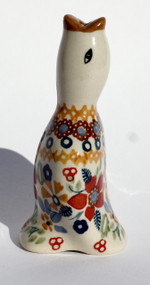 Polish Pottery Pie Bird -Grandma's Garden