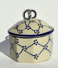 Polish Pottery Mini Pretzel Box -Classic Beauty