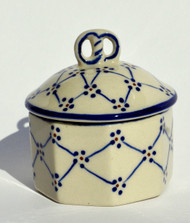 Polish Pottery Mini Pretzel Box BE WELL