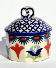 Polish Pottery Mini Pretzel Box -Regal