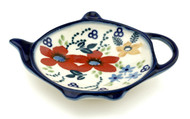 Polish Pottery Tea Bag Holder - Love in Bloom