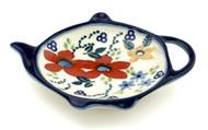 Polish Pottery Tea Bag Holder - Love in Bloom