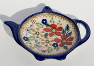 Polish Pottery Tea Bag Holder -Grandma's Garden