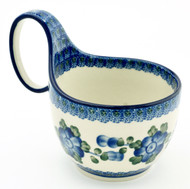 Polish Pottery Soup/Chilli Mug - Poppy in Blue
