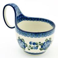 Polish Pottery Soup/Chilli Mug - Poppy in Blue