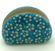 Polish Pottery Napkin Holder - Cerulean
