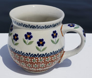 Polish Pottery Stoneware Bubble Mug-So Thoughtful