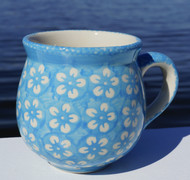 Polish Pottery Stoneware Bubble Mug- Cerulean