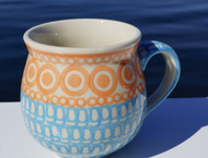 Polish Pottery Stoneware Bubble Mug- Dreamsiscle
