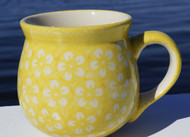 Polish Pottery Stoneware Bubble Mug- I Love Yellow