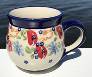 Polish Pottery Stoneware Bubble Mug-Field of Poppies