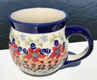 Polish Pottery Stoneware Bubble Mug-Friends