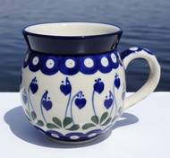 Polish Pottery Stoneware Bubble Mug - Sweetheart
