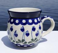 Polish Pottery Stoneware Bubble Mug - Sweetheart