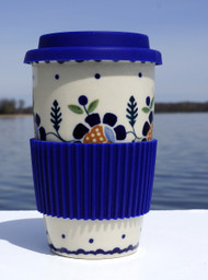 Polish Pottery Travel Mug-Sunlit Treasure