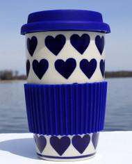 Polish Pottery Travel Mug- Valentine