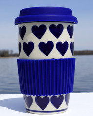 Polish Pottery Travel Mug- Valentine