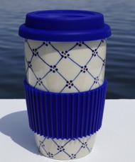 Polish Pottery Travel Mug BE WELL