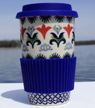 Polish Pottery Travel Mug- Regal