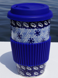 Polish Pottery Travel Mug- Snowbound