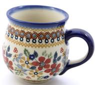 Polish Pottery Stoneware Bubble Mug - Grandma's Garden