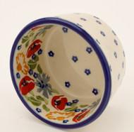 Polish Pottery Ramekin-Field of Poppies