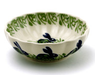 Polish Pottery Berry Bowl-Bunny Hop