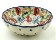 Polish Pottery Berry Bowl-Field of Poppies