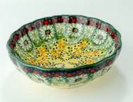 Polish Pottery Berry Bowl- Sunlit Meadow