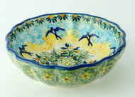 Polish Pottery Berry Bowl-Tranquility