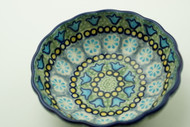 Polish Pottery Berry Bowl-Sea Glass