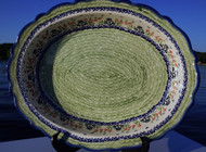 Polish Pottery Large Oval Baker- Danny's Girl