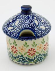 Polish Pottery Honey Pot- Delight