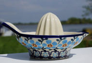 Polish Pottery Lemon Juicer-Topaz